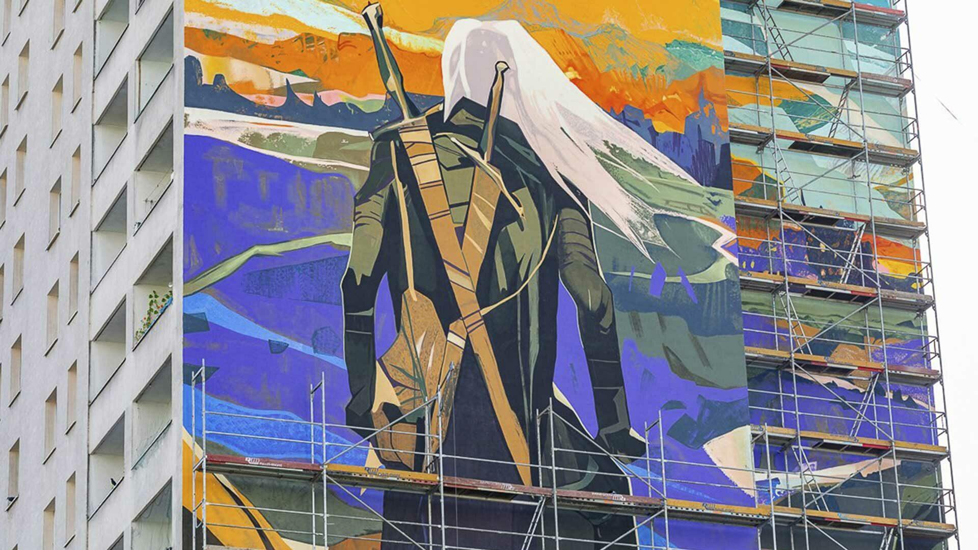 Geralt de Riv sur un immeuble de 78 metres