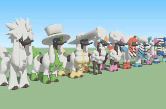 Changer la coupe / Obtenir toutes les formes de Couafarel dans Pokémon GO
